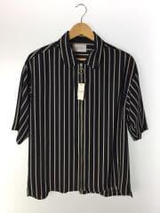 リングジップストライプシャツ/半袖シャツ/108202039