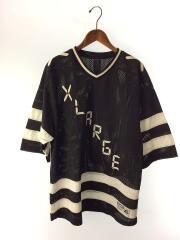 DIGITAL LOGO HOCKEY JERSEY/Tシャツ/XL/ポリエステル/BLK/01161309