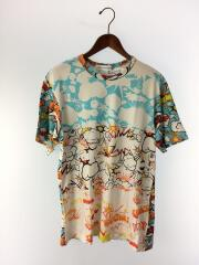 プリントTシャツ/--/コットン/WHT/総柄/W27103