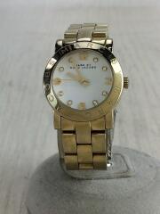 クォーツ腕時計/アナログ/ステンレス/WHT/GLD/MBM3057