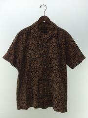 19SS/バティック柄/オープンカラーシャツ/L/コットン/BRW/総柄/11-01-0884-139