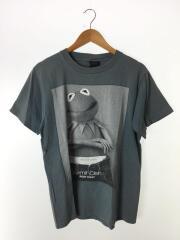 USED/Tシャツ/L/コットン/GRY/クルーネック/フロントプリント