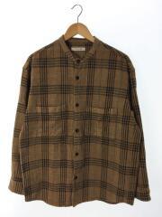 19AW/スタンドカラー/シャツジャケット/長袖シャツ/L/コットン/CML/チェック