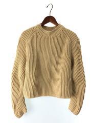 Natural Rib-knit Sweater/XXS/コットン/BEG/A60128/FN-WN-KNIT00022