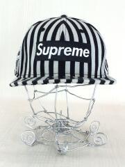 13AW/Striped Box Logo NEW ERA CAP/キャップ/7 1/4/BLK/ストライプ