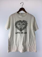 USED/80s-90s/LOVE ON ICE/Tシャツ/L/コットン/WHT
