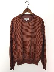 17SS/ELBOW PATCH KNIT/セーター(薄手)/L/ウール/ORN