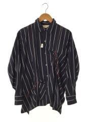手縫いストライプシャツ/1/コットン/NVY/Jie-20W-SH02