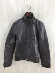 レザージャケット・ブルゾン/38/豚革/BRW
