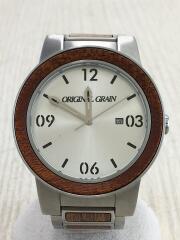 クォーツ腕時計/ORIGINAL GRAIN/アナログ/--/SLV