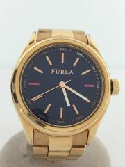 クォーツ腕時計/アナログ/ステンレス/NVY/GLD/4253101501