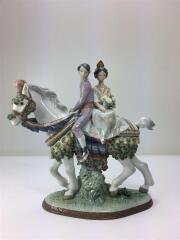 VALENCIAN COUPLE ON HORSE L.E./バレンシアンカップル/インテリア/置物/磁器