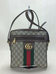 グッチ/ショルダーバッグ/PVC/GRY/GGプラス/メンズ/レディース/ユニセックス/カバン/鞄