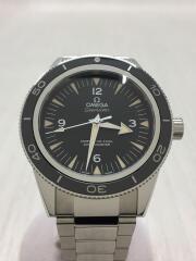 シーマスター・シーマスター300・SS/アナログ/ステンレス/ブラック/フォーマル/ビジネス/ロゴ/メンス/自動巻腕時計SEAMASTERバックスケルトン