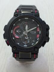 ソーラー腕時計・G-SHOCK/アナログ/RED/BLK/MTG-B1000XBD/フォーマル/