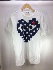 19SS/ロゴ刺繍/ハートプリント/Tシャツ/XXL/コットン/AZ-T234/ホワイト/トップス/カットソー