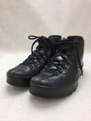 トレッキングブーツ/UK7/BLK/レースアップ/ブラック/革/靴/黒/シューズ/4T0556