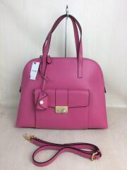 ハンドバッグ/ピンク/フラップ/1710110002/タグ付き/ショルダーストラップ付/鞄