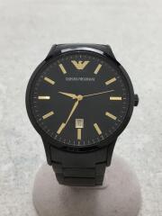 AR-2451/クォーツ腕時計/アナログ/ステンレス/ブラック/クロノグラフ/ウォッチ/アルマーニ