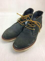 WORK CHUKKA/ワークチャッカ/28.5cm/スウェード/ネイビー/クツ/紐靴/アメカジ/ロゴ