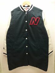 ナイロンジャケット/L/ナイロン/BLK/WJ01505/スタジャン/コート/ワンポイント/ロゴ/ブラック