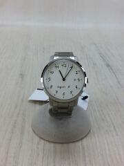 クォーツ腕時計/アナログ/ステンレス/WHT/SLV/VJ32-KTD0/シンプル/シルバー