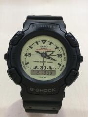 クォーツ腕時計/デジアナ/IVO/BLK