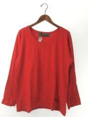 長袖Tシャツ/2/コットン/RED