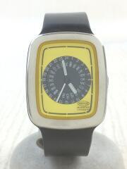 自動巻き腕時計/アナログ/ラバー/YLW/BLK