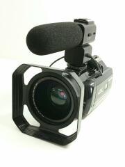 Ansteker 4K/1300万画素/Wi-Fi搭載ビデオカメラ/HDR-AC3/ブラック