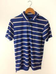 半袖シャツ/M/--/BLU/NT21435/ポロシャツ/パイル生地/ボーダー/青/マリン