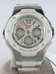 クォーツ腕時計/デジタル/ステンレス/MSG-302C-7BJF/Baby-G/ベイビージー/中古