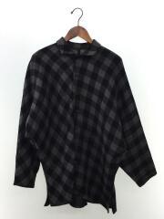 ワイズ/長袖シャツ/3/ウール/ブラック/黒/チェック/YT-B04-180/中古