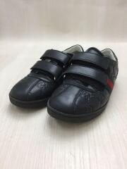 410384/グッチシマ/GG柄/ベルクロ/キッズ靴/スニーカー/レザー/BLK