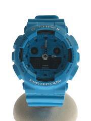 クォーツ腕時計・G-SHOCK/デジアナ/GA-100RS-2AJF/水色/スペシャルカラー