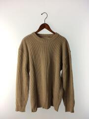 セーター(厚手)/FREE/アクリル/ブラウン/11920544/クルーネックボーイフレンドニット/中古
