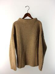 セーター(厚手)/FREE/ポリエステル/ベージュ/11920532/オーバーサイズブレイドニット