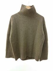 セーター(厚手)/FREE/ウール/ブラウン/11820544/ウールタートルネックニット/中古