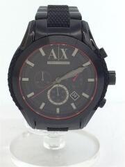 クォーツ腕時計/アナログ/ステンレス/ブラック/ブラック/AX1387