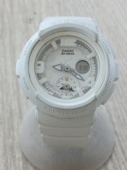 腕時計/デジアナ/キャンバス/WHT/WHT