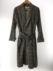 コート/36/コットン/GRY/チェック/Brushed Check Gown