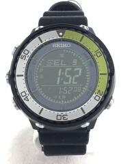 ソーラー腕時計/デジタル/ラバー/BLK/×JOURNAL STANDARD relume/PROSPEC