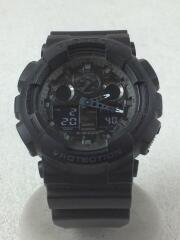 腕時計/デジタル/ラバー/BLK/BLK