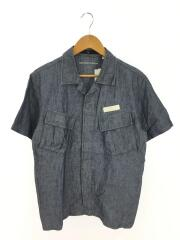 半袖シャンブレーシャツ/M/コットン/BDU/テック