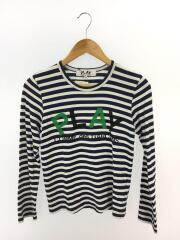長袖Tシャツ/ロゴ/S/コットン/BLU/ボーダー/172-60102