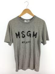 18SS/ロゴプリント/Tシャツ/XS/コットン/GRY/2040MM97