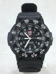 クォーツ腕時計/アナログ/ブラック/3000/3900/ルミノックス