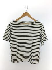 バスクシャツ/Tシャツ/4/コットン/BLK/ボーダー