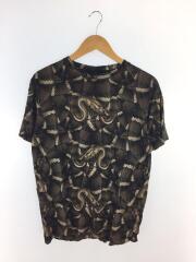 Tシャツ/XS/コットン/BLK/スネーク