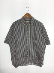 半袖シャツ/42/コットン/ストライプ